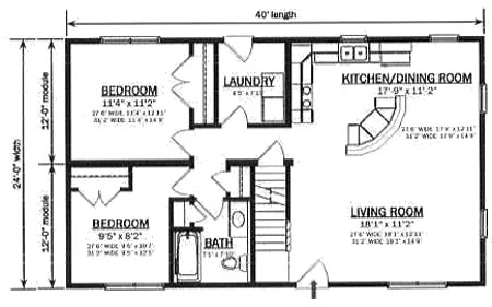 floor plan detail | hallmark modular homes