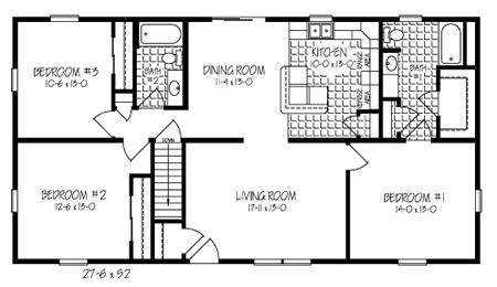 ranch condo floor plans. ranch. home plan and house design ideas