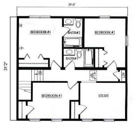 Floor plan detail hallmark modular homes for Hallmark homes floor plans